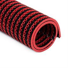 Antislipmat badkamer zwart/rood klein 200x120cm