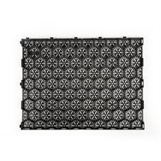 Grindmatten zwart 79x59,2x3cm