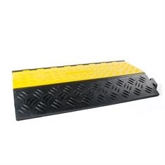 Kabelbrug 2 kanalen groot zwart/geel LxBxH=901x610x102mm