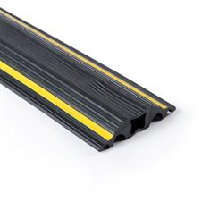 Kabelgoot 5 kanalen zwart/geel LxBxH=9000x64x15mm