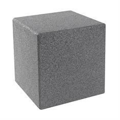 Kubus met grondpen grijs 40x40x40cm