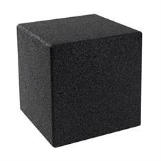 Kubus met grondpen zwart 40x40x40cm