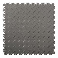 PVC kliktegel diamant donkergrijs 500x500x4mm