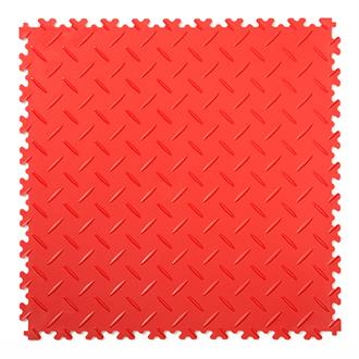 PVC kliktegel diamant rood 500x500x4mm