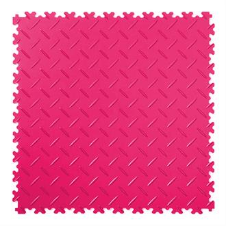 PVC kliktegel diamant roze 500x500x4mm