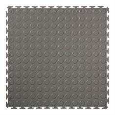 PVC kliktegel nop donkergrijs 500x500x4,5mm