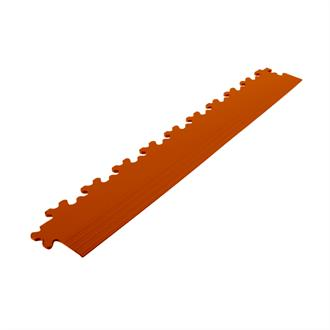 PVC kliktegel randstuk terracotta 4mm