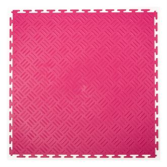 PVC kliktegel traanplaat roze 500x500x6mm