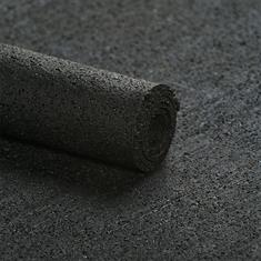 Rubber ondervloer asfaltlook 6mm (breedte 100cm)