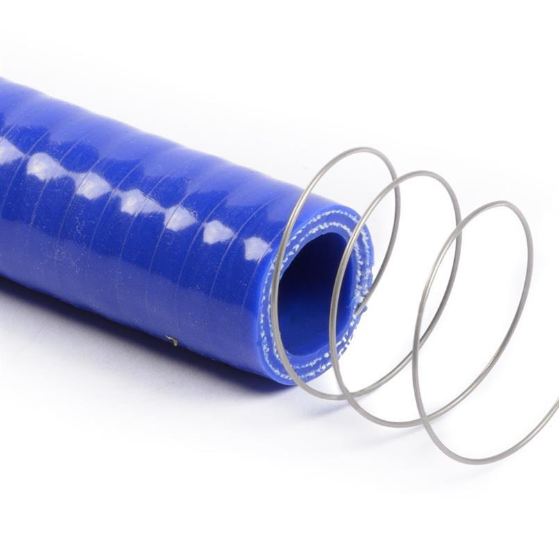 Siliconen slang m/stalen spiraal blauw DN=32mm L=1000mm