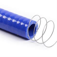 Siliconen slang met stalen spiraal blauw DN=25mm L=1000mm