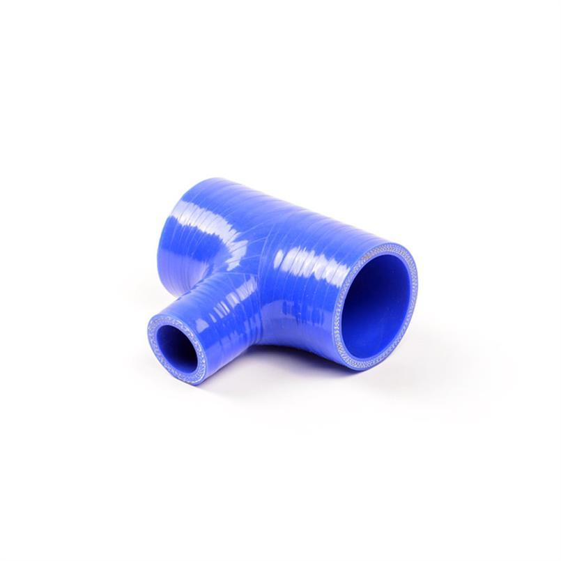 Siliconen T-stuk blauw DN=25mm