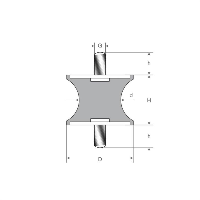 Tailledemper type A/F 26/18x28mm (M8)